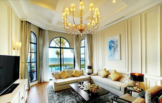 Không gian sang trọng bên trong biệt thự Vinpearl Phú Quốc Villas.
